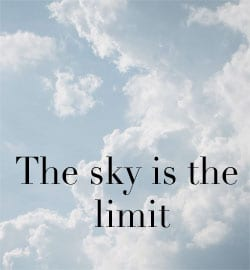 The Sky is the Limit in Negotiating