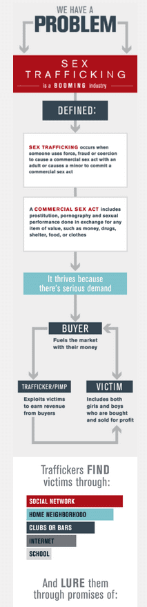 Sex Trafficking Infographics and Flowchart
