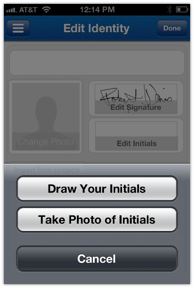 Sign N Send Create Signature for Later Use