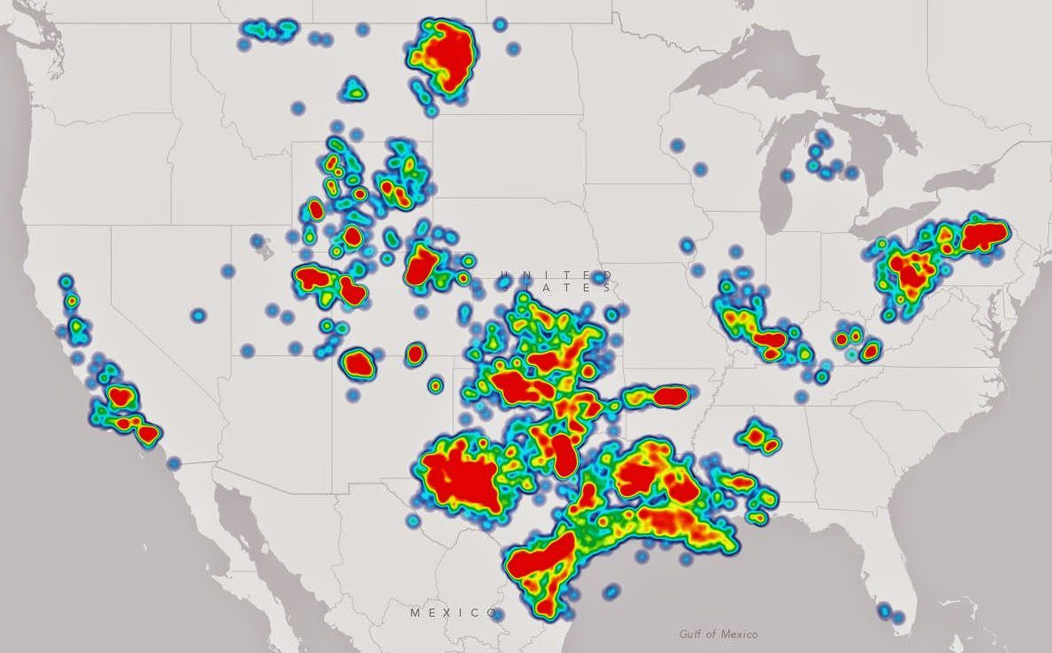 Heat Map of Oil & Gas Drilling in USA