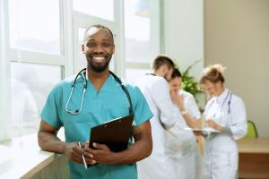 Healthcare it services; doctor smile; it support
