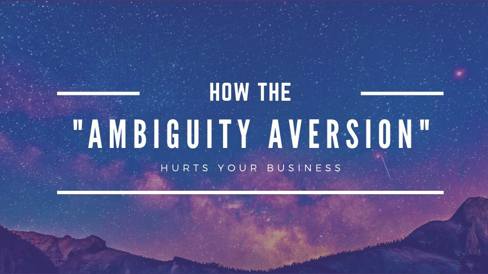 Banner - Ambiguity Aversion
