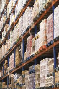 Shelves of Goods in a Warehouse
