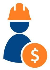 Labor cost concept icon. Clipart image isolated on white background