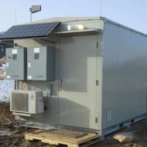Solar Panels on Thermal Fort Lightweight thermal fort shelter fitted for Solar Panels.
