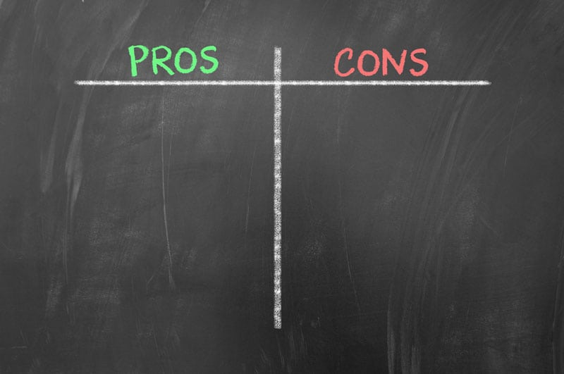 Pros and cons board