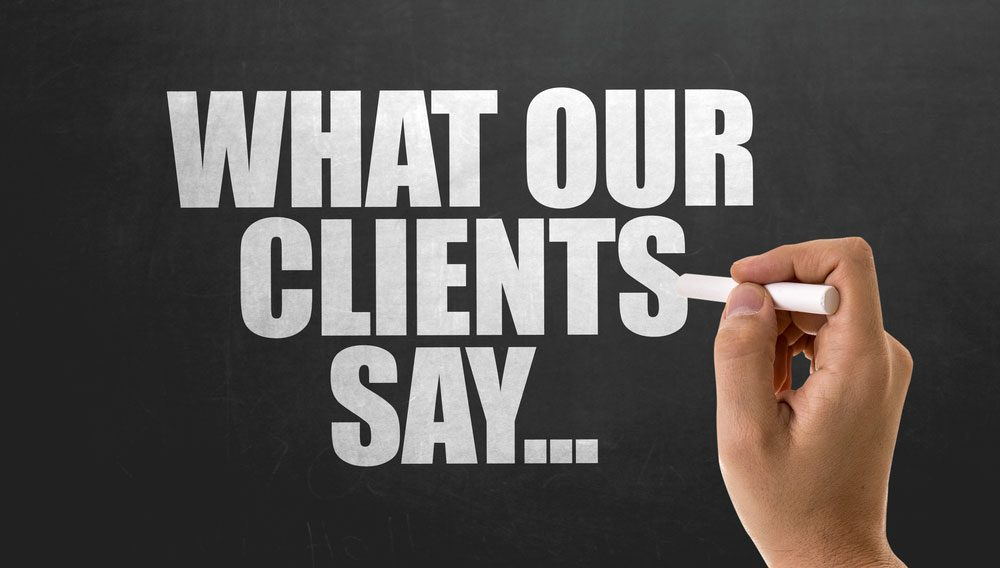 What our clients say - testimonials