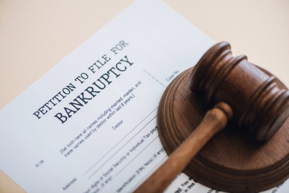 Bankruptcy Petition Under a Gavel